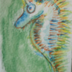 ACEO SPIKEY SEA HORSE
