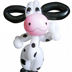Balloon Moo Cow sent with your message