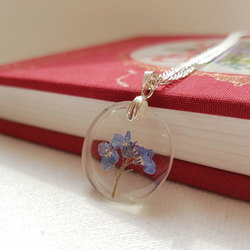 Real Forget Me Not Necklace