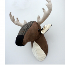 Deer head, faux taxidermy.