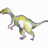 Deinonychus,  dinosaur art print, watercolour galaxy