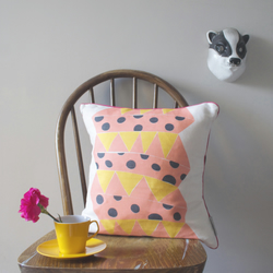 Jack in the Box cushion cover in candyfloss pink - free postage
