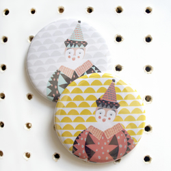 Pocket Mirror - Jack the Clown in sunshine - free postage - stocking filler