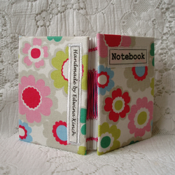 Mini notebook – floral fabric