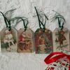 Vintage Christmas tags C (pack of 8)