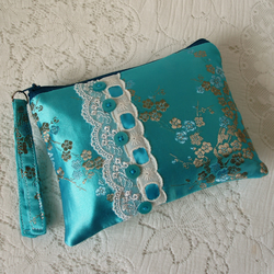 Coin purse – turquoise fabric