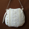 Silk and lace purse