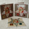 Christmas cards – fabric stars (pack of 3) RESERVED FOR ROSALIND