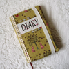 2014 Diary cover – pink cats & trees