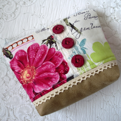 Belle Rose cosmetic purse