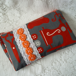 Sewing Purse with orange buttons