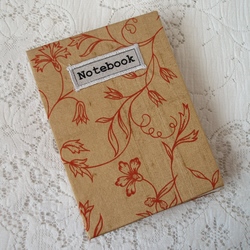 A6 Handmade notebook with silk cover