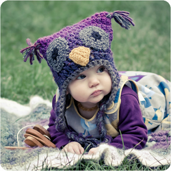 Owl Hat Custom Baby Child Toddler Crochet with Earflaps