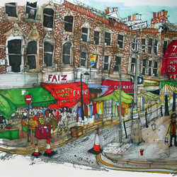 Electric avenue Brixton painting