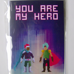 Gay Valentines Card - Action Heroes