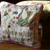 "Snow White ""Whistle While You Work"" Handmade Cross Stitch Cushion"