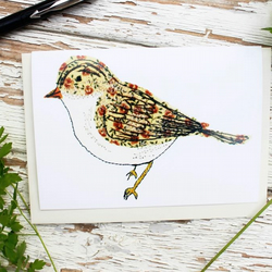 floral bird card eco
