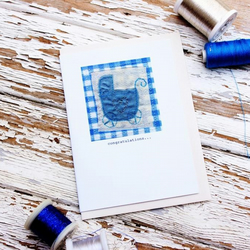 baby boy card eco
