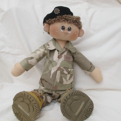 Soldier Sam Rag Doll