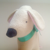 SALE Friendly Puppy - Fawn Fleece Dog Plush Toy Requires A Loving New Home