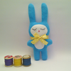 Little Turquoise Bunny Fleece Soft Toy, Bunny Plush, Sweet Boy Baby Bunny