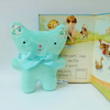 Mint Green Small Bear with Liberty Flower Ears, Soft Velvet Little Plush Bear