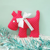 SALE Christmas Lavender Sachet Dog in Jolly Red and White Spot
