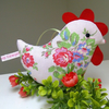Half Price SALE Pink Chicken Decoration, Lavender Scented Bird Pink Rosy Fabric