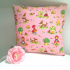 Little Red Riding Hood Small Cushion in Pink for a Little Girl's Room
