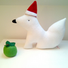 SALE Was 14.50 Christmas Arctic Fox, a Friendly Soft Toy in Cuddly White Fleece