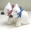 SALE Polar Bear Set, Christmas Decorations, Pair of Cute White Polar Bears