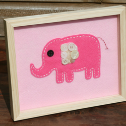 Pink Elephant Button Picture