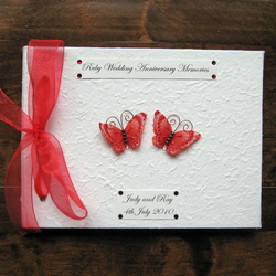 Ruby Wedding Guest Book