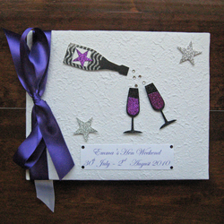 Personalised Hen Night or Special Birthday Guest Book - Champagne!