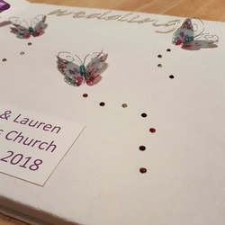 Large Wedding Photo Album Flowery Butterflies