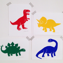 Dinosaur Mini Screen Print Set