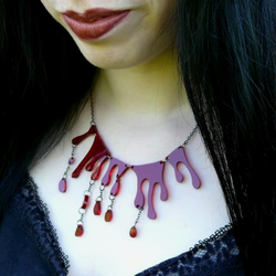 Dark Translucent Blood Necklace
