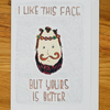 beard face greetings card, birthday, anniversary, valentines, any occasion