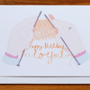 knitting hands happy birthday card