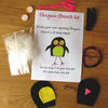 DIY craft kit - felt penguin brooch
