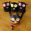 cat sock toy, sock monster, sock monkey, rice monster, squeazle