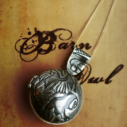 Sterling silver Owl Locket