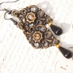 Steampunk Filigree Earrings