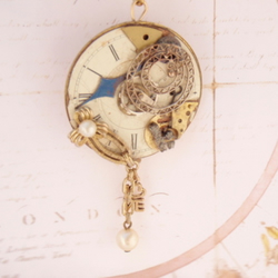 In Love's Own Time – Steampunk Pendant