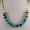 Blue and Green Agate Necklace.