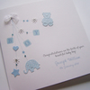Baby Boy, Hand-Made & Personalised Christening or New Baby Congratulations Card.