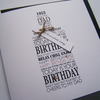 A vintage Year - Luxury Hand Made Birthday Card for Dad adapted with birth year.