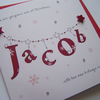 Luxury Hand Made Christmas Card - Personalised Name.