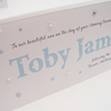 Hand-Made Personalised Name Christening Card.