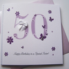 Hand Made Birthday Special Age Card, can be personalised with wording and age.